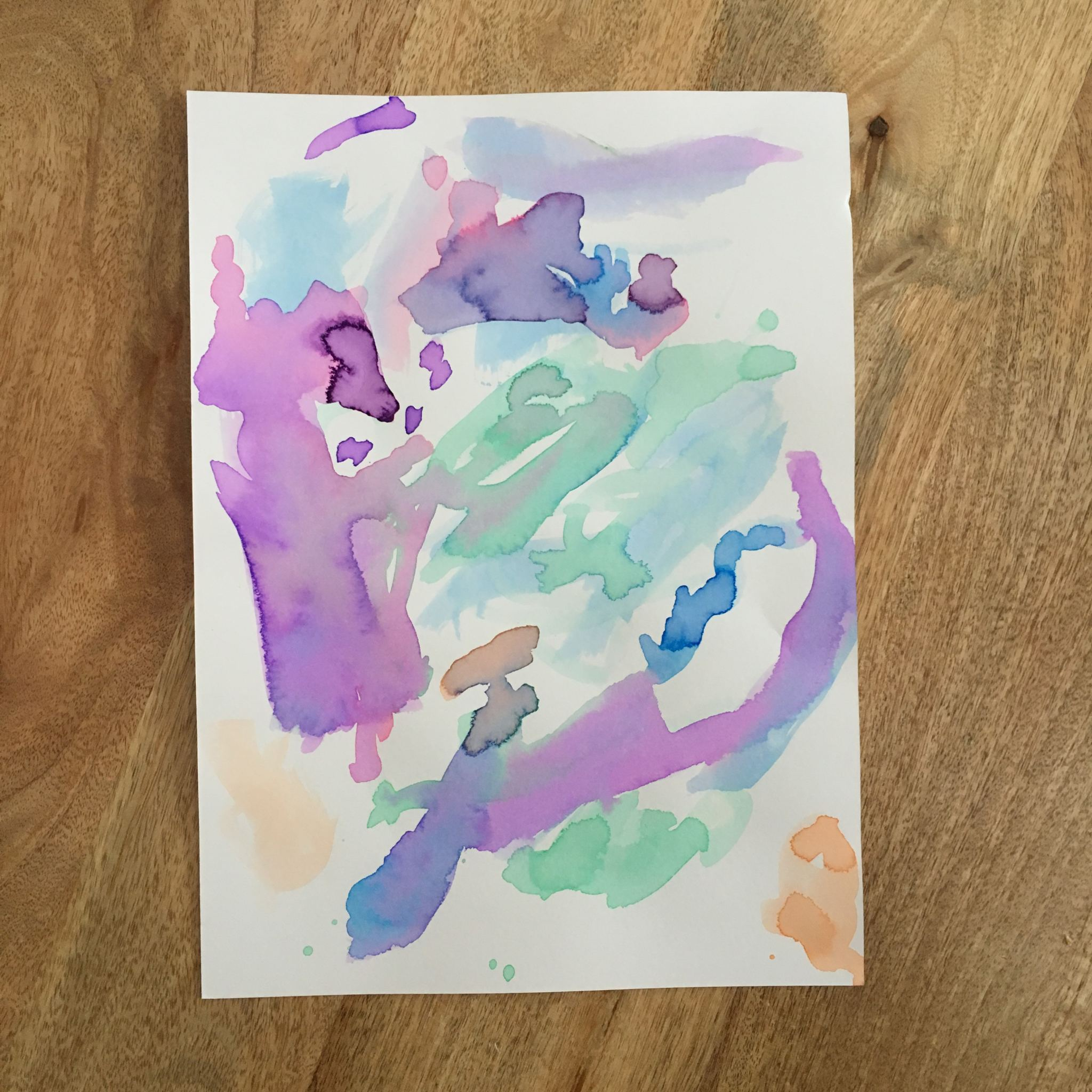 Toddler art: liquid watercolours