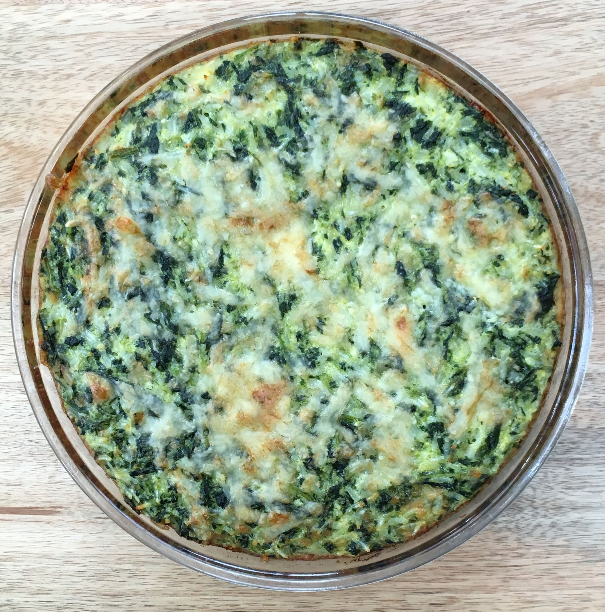 Smug and Lazy Spinach and Rice Pie